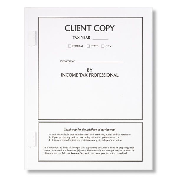 Taxfolders tax presentation folders and envelopes from print client copy tax sciox Image collections